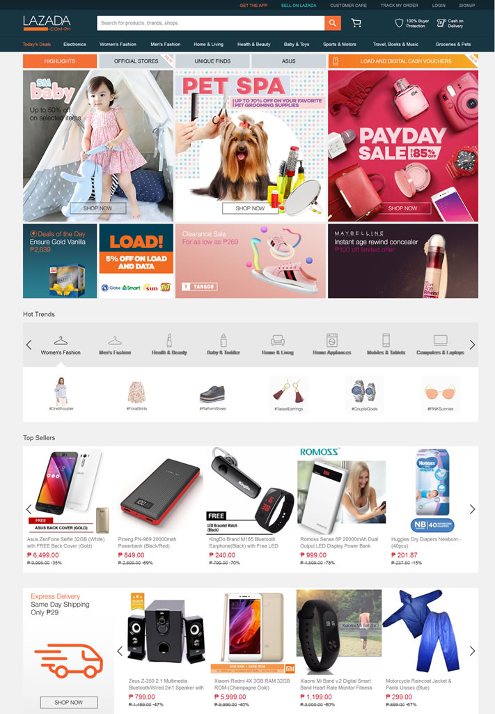 Philippines Online Shopping Site: LAZADA Philippines