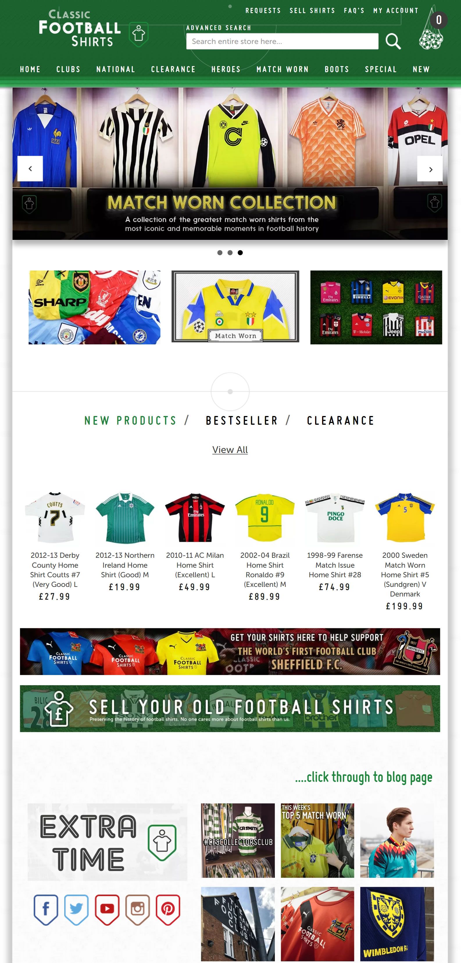 Classic Retro Vintage Football Shirts: Classic Football Shirts