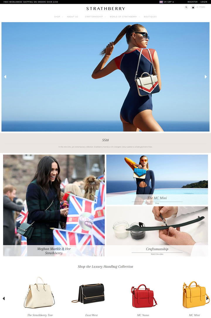 Strathberry Official Site: Luxury leather handbags, crafted in Spain