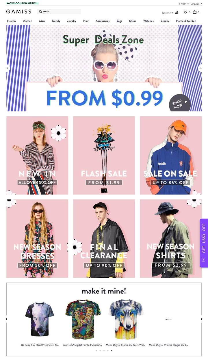 American Cheap Clothing Wholesale: Gamiss