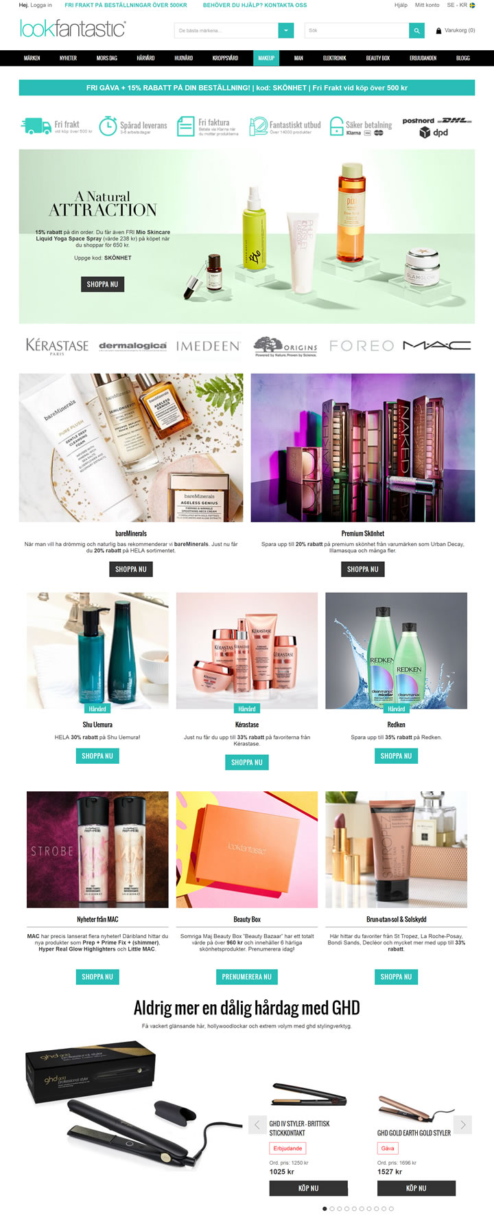 Lookfantastic Sweden: UK Famous Beauty Shopping Site