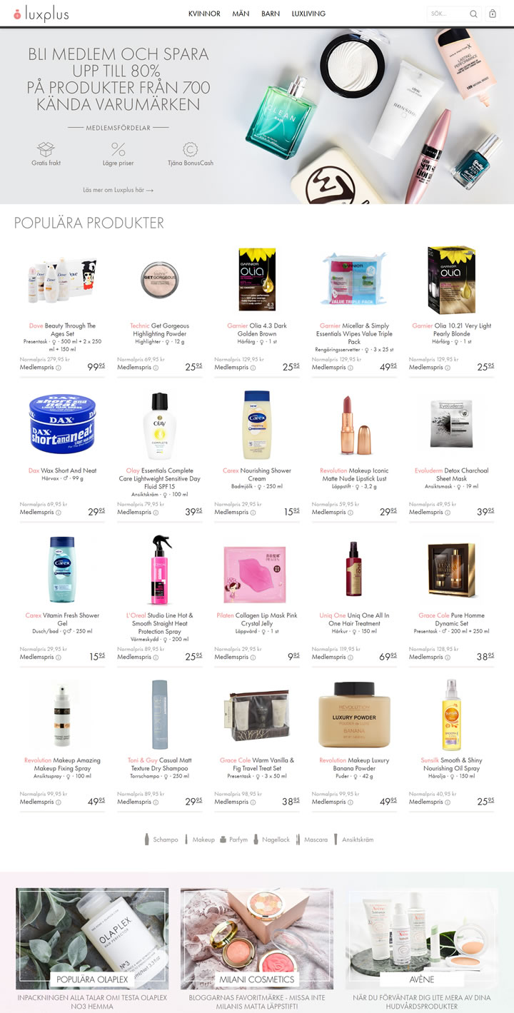 Luxplus Sweden: Perfume and Beauty Care Discounts