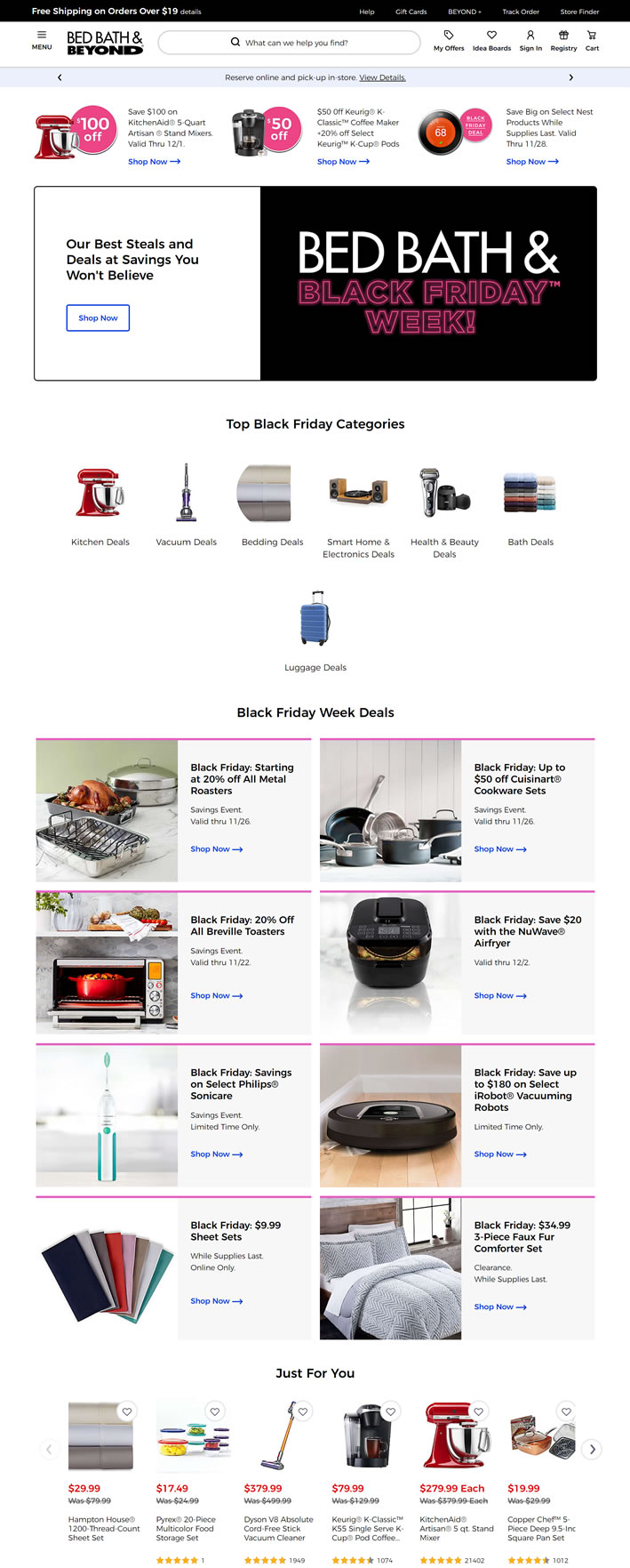 American Famous Household Goods Shopping Website: Bed Bath & Beyond