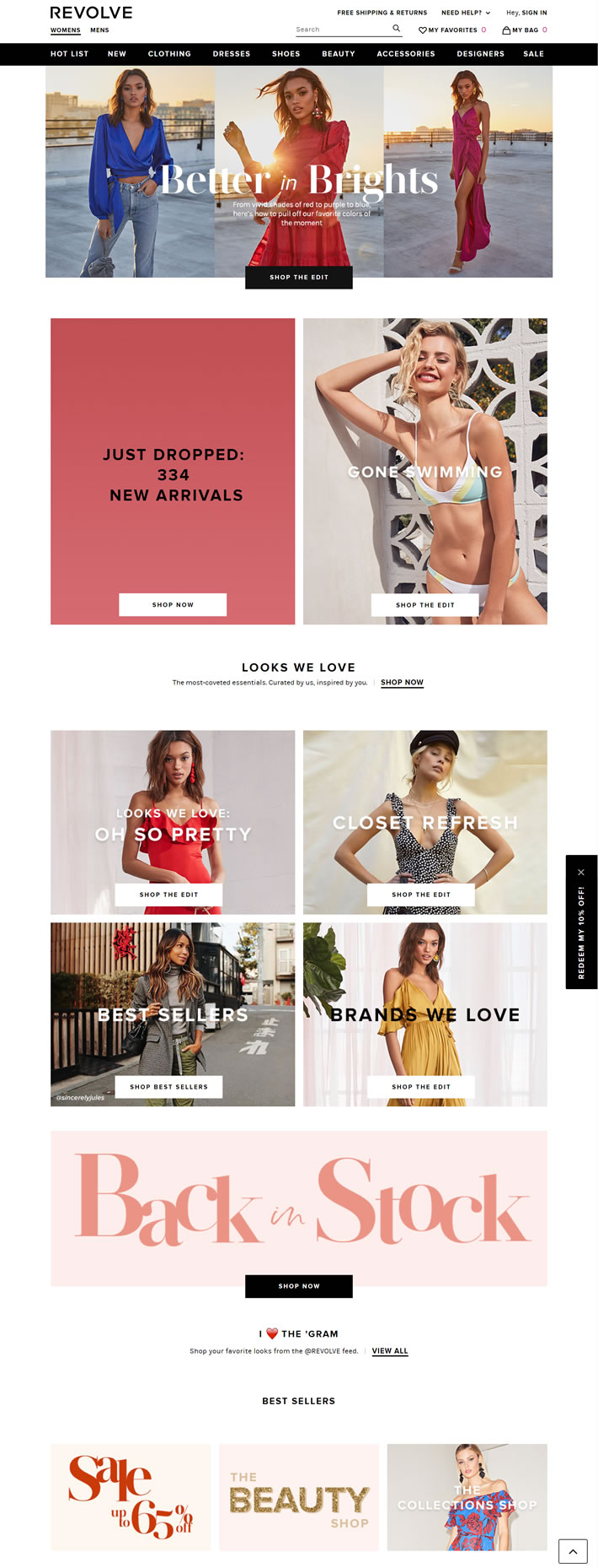 American Light Luxury Fashion Shopping Website: REVOLVE