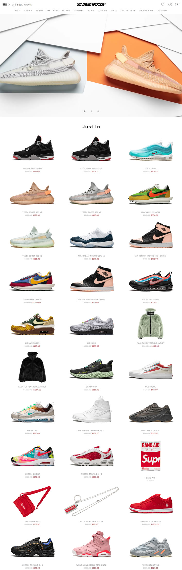 Stadium Goods Official Site: Air Jordan, Nike, adidas, Supreme & Other Footwear Available